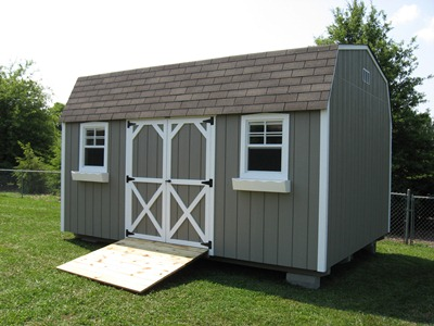Deluxe Lofted Barn Storage Sheds can be viewed at our location 7121 Nolensville Rd, Nolensville, TN 37135
