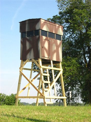 Camouflaged hunting blinds by Sheds Nashville