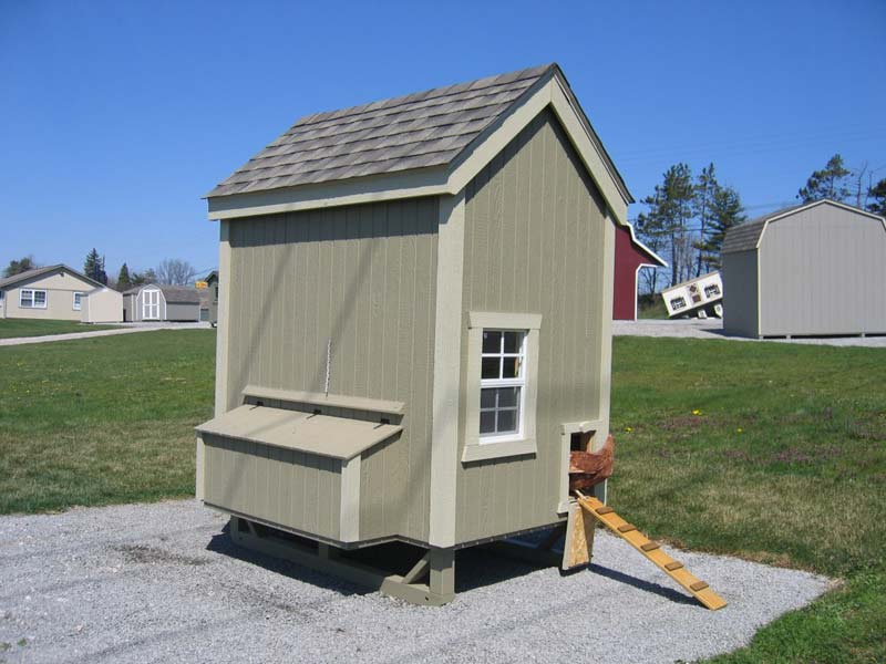 4x6 Colonial Gable Chicken Coop Kit
