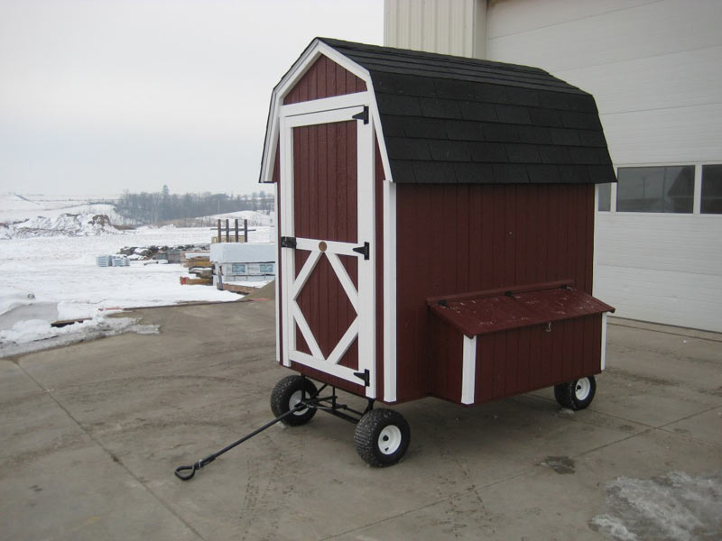 4×6 Barn Chicken Coop With Wheels