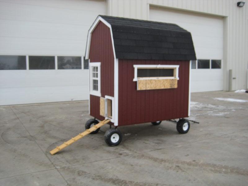 4×6 Barn Chicken Coop With Wheels