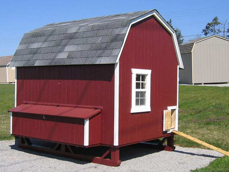 Gambrel barn chicken coop for Gambrel garage kit