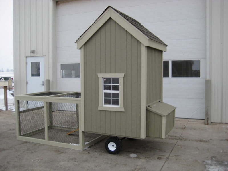 4x4 Colonial Gable Run Chicken Coop