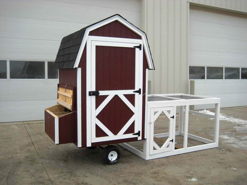 4×4 Gambrel Barn Run Chicken Coop Kit